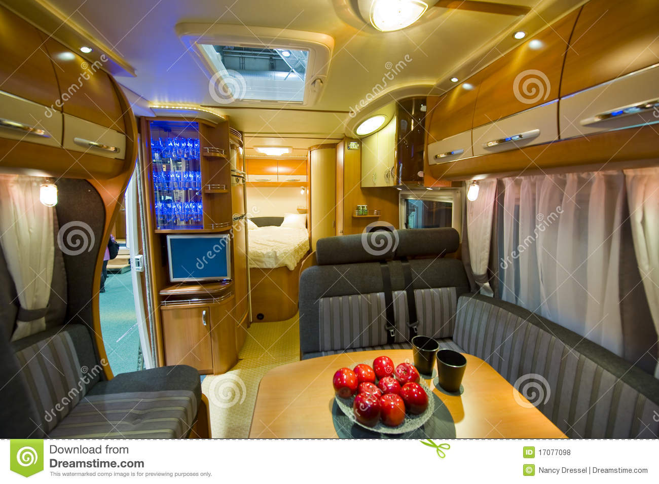 Inside motor home stock photo image of holiday driving for Interieur camping car