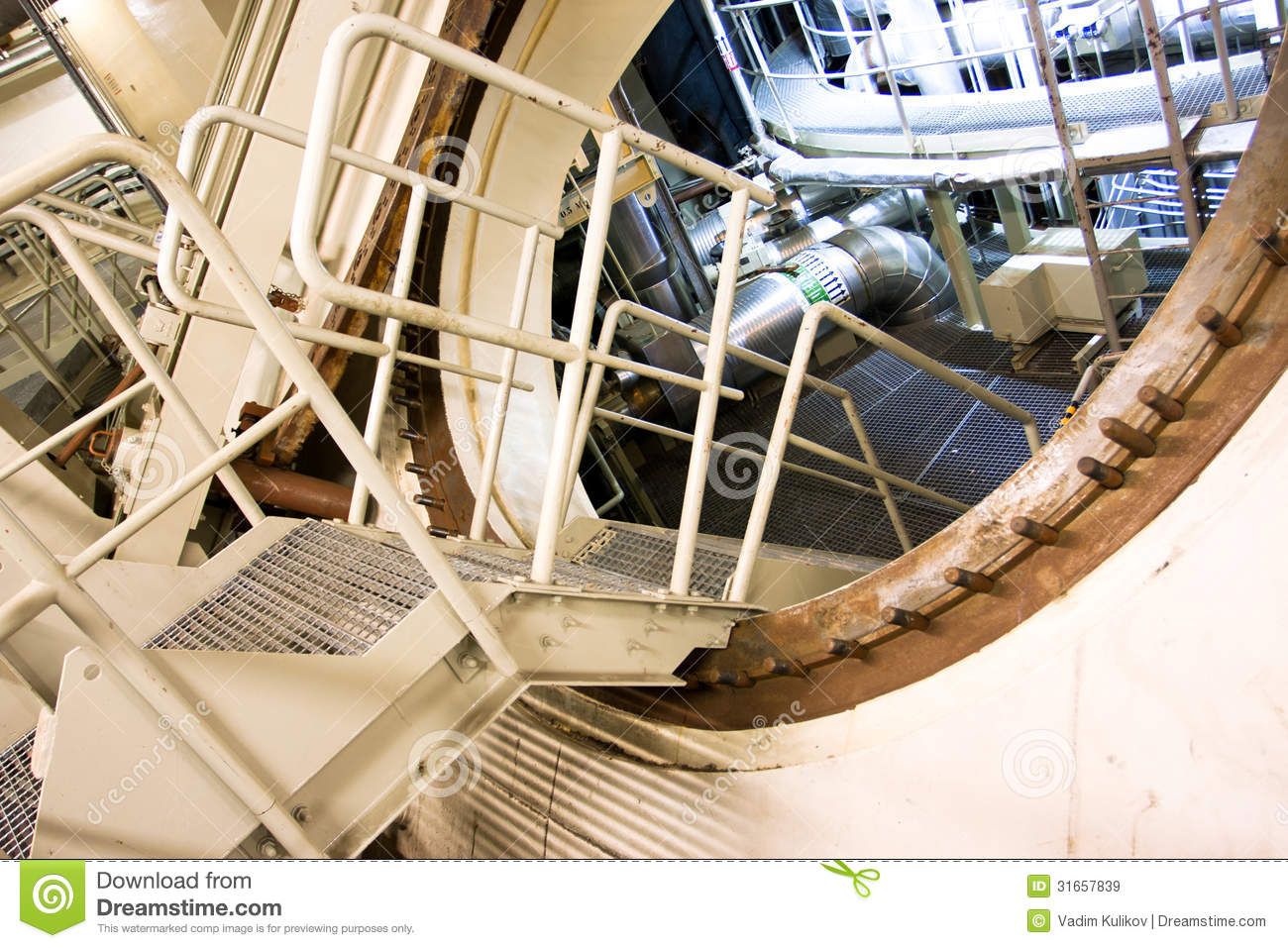 Inside The Nuclear Power Plant Editorial Stock Image ...