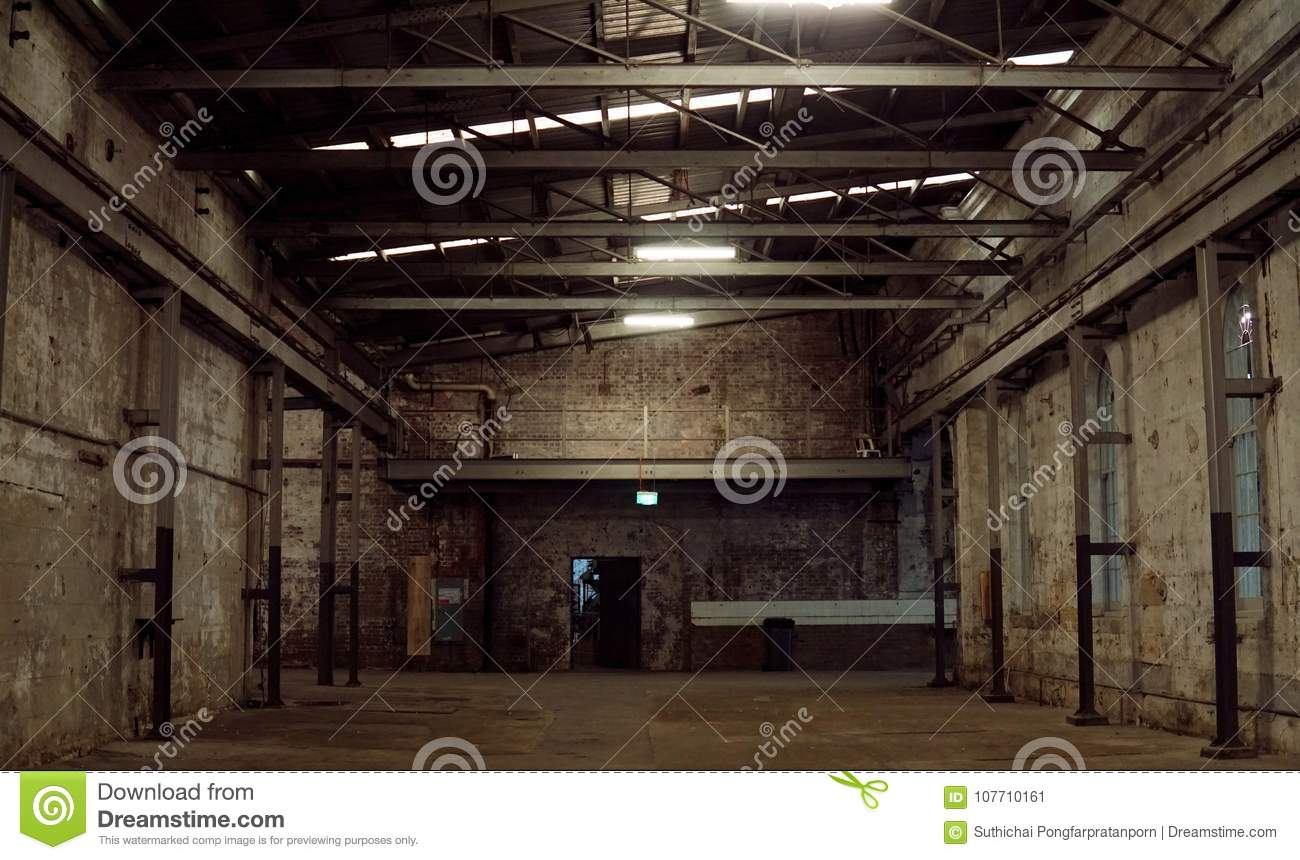 A Structure Interior Of Industry Warehouse An Abandon Old Factory With No Equipment And Machine Image Rustic Room Made From Iron