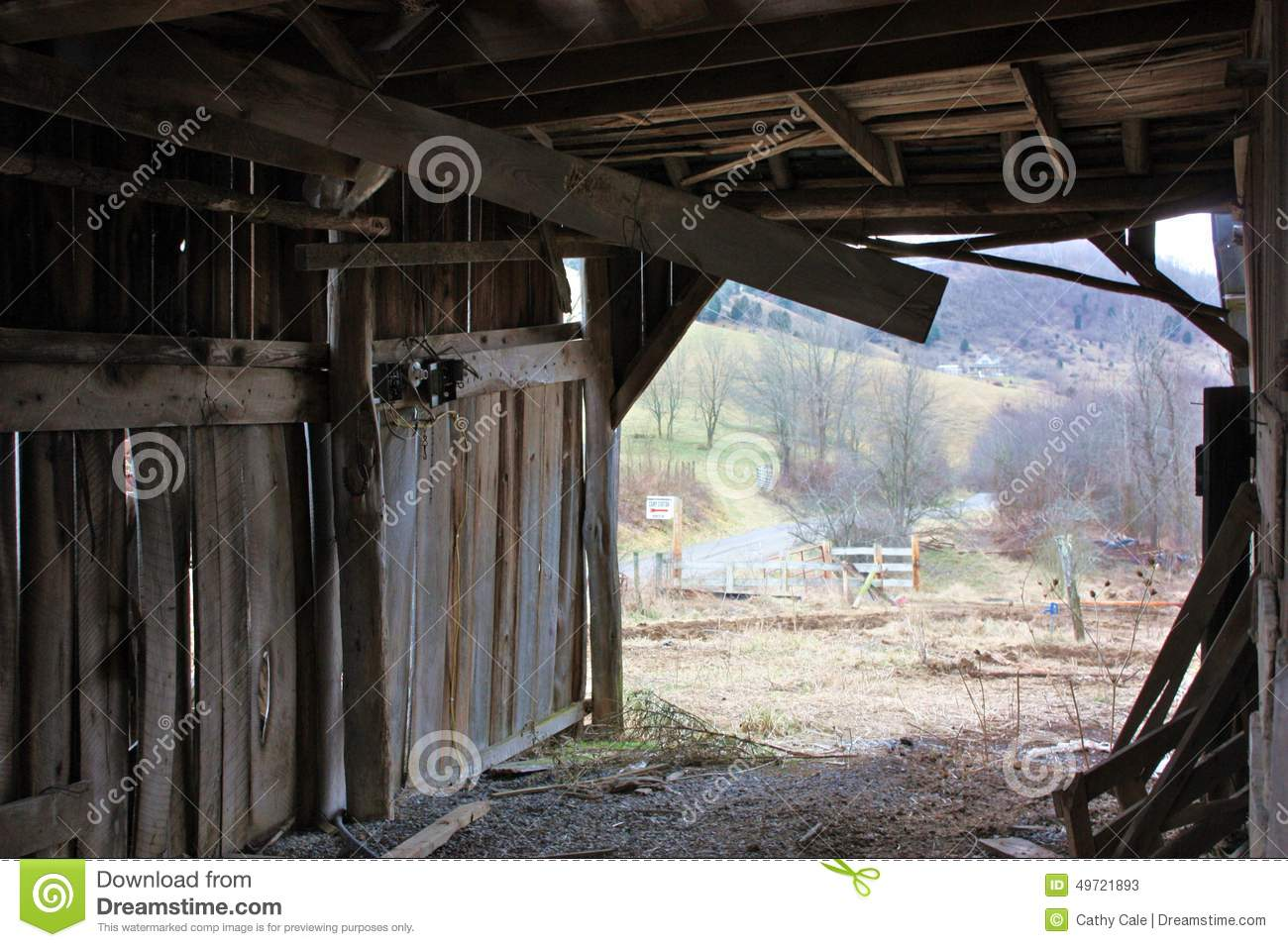 Inside The Old Barn Stock Image Image Of Down Farm