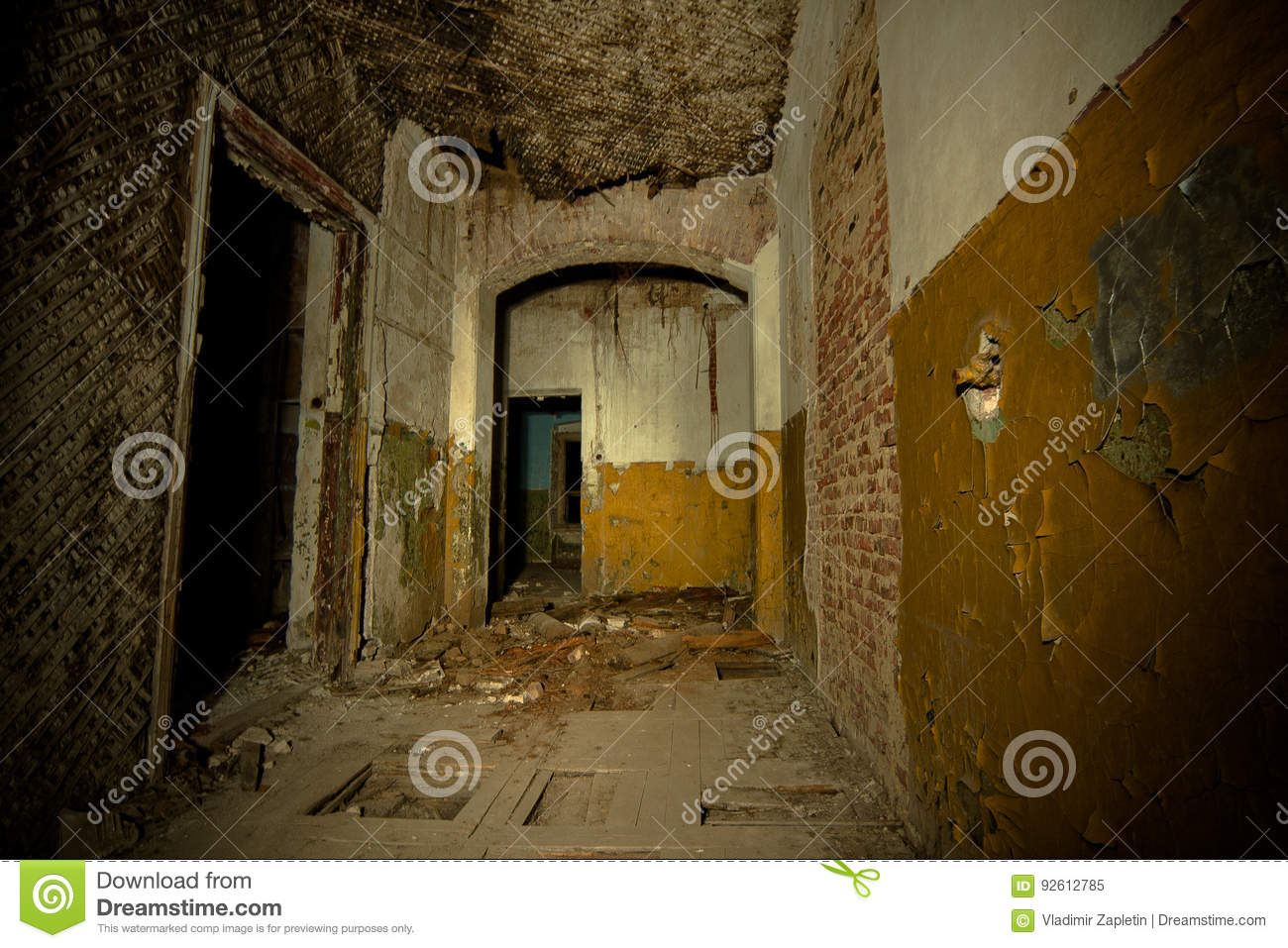 Inside Of Old Creepy Abandoned Mansion Former Manor Of Karl Von Meck Stock Image Image Of Exploration Dilapidated 92612785