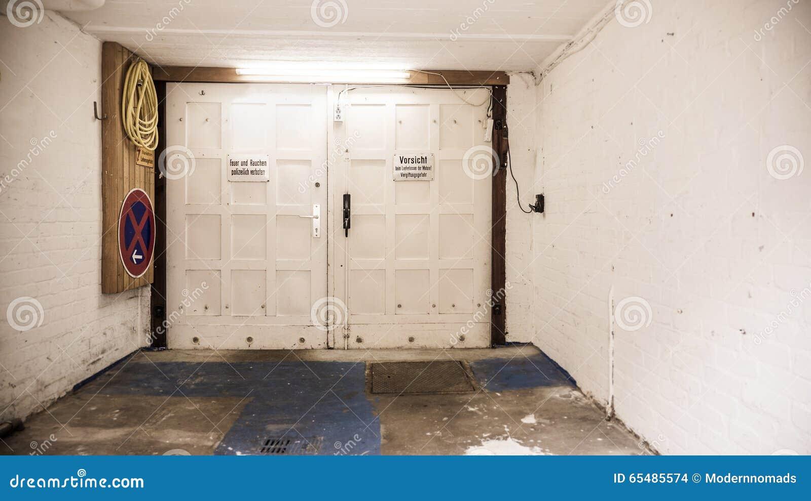 Inside An Old Empty Garage Garage Door Stock Photo Image Of Walls Aged 65485574