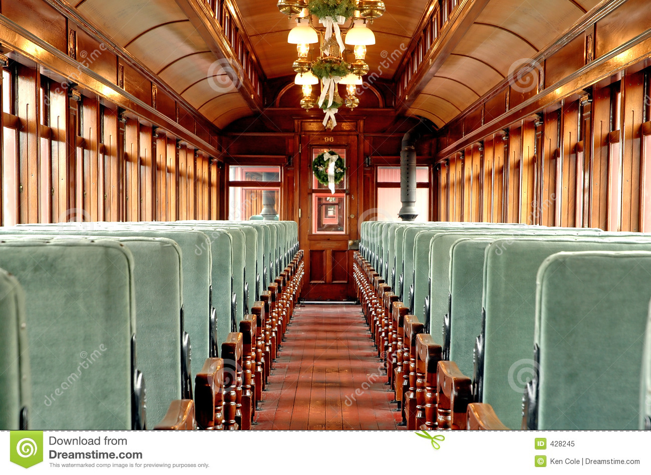 inside an old passenger rail car stock image image 428245. Black Bedroom Furniture Sets. Home Design Ideas