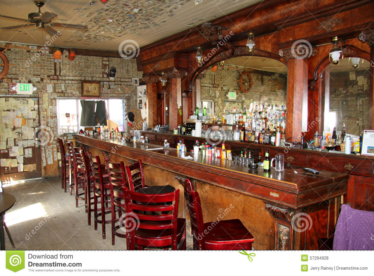 Uncategorized Old Wooden Bar inside of an old wooden bar with mirror stock photo image 57294928 mirror