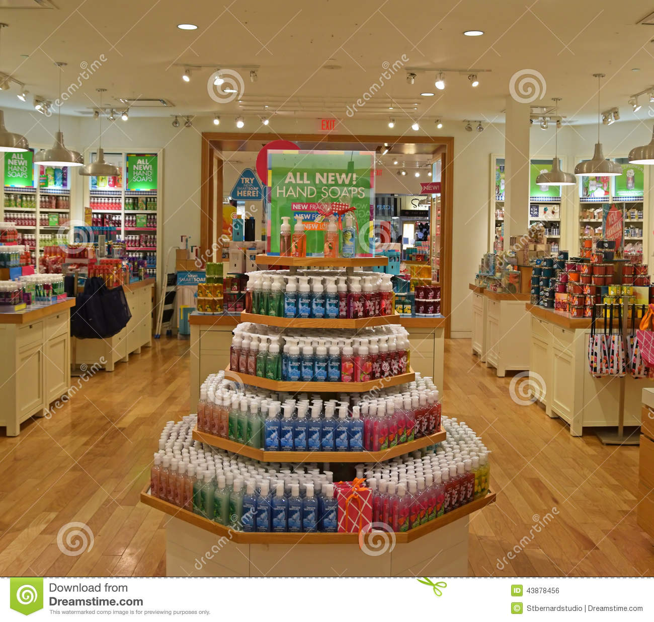Inside One Of The Shops Of Bath Amp Body Works Editorial