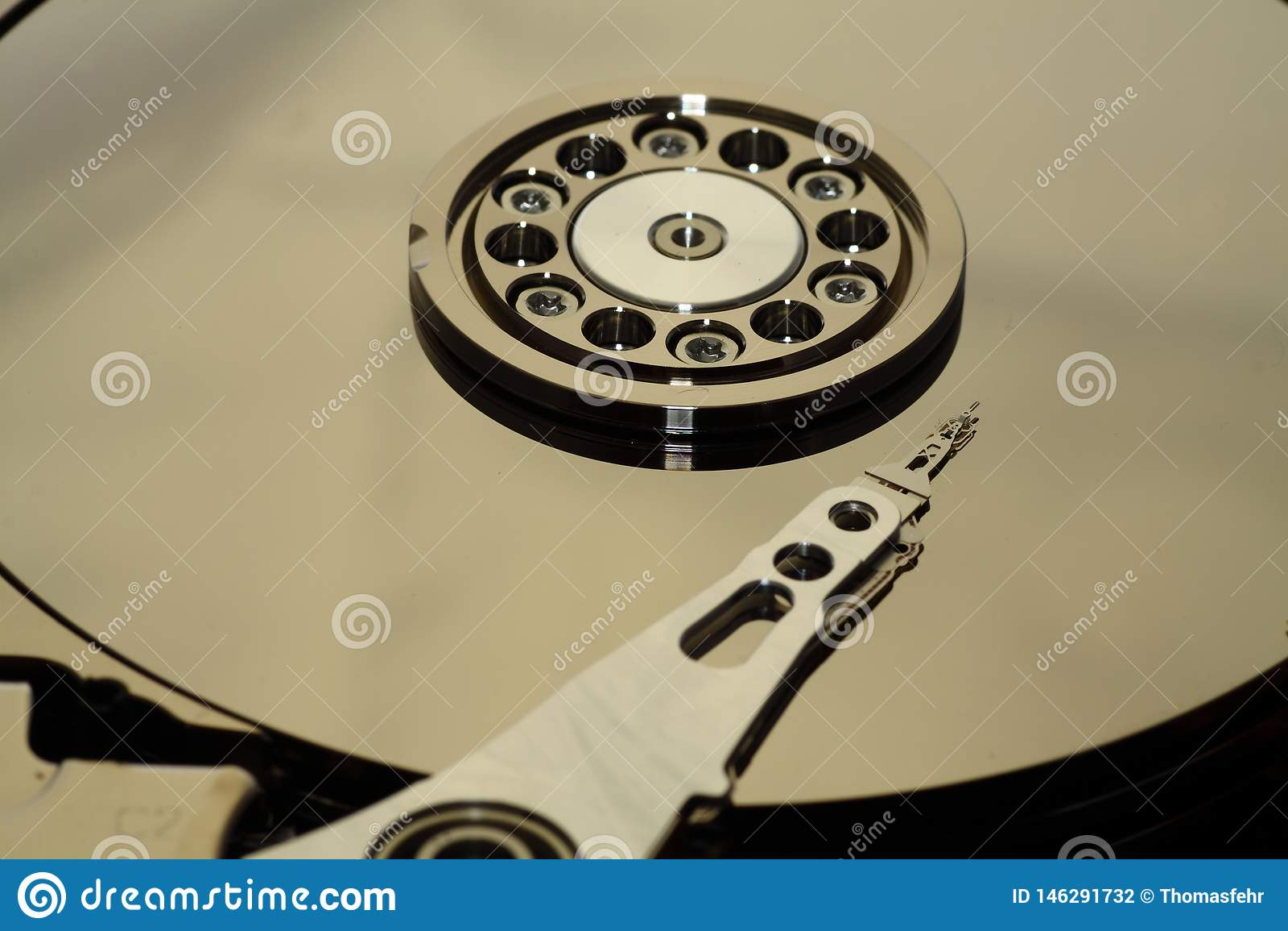 Inside a open HDD