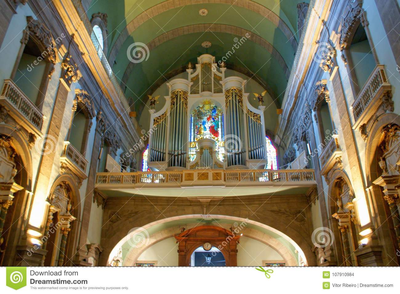 Inside Our Lady of Lapa Church