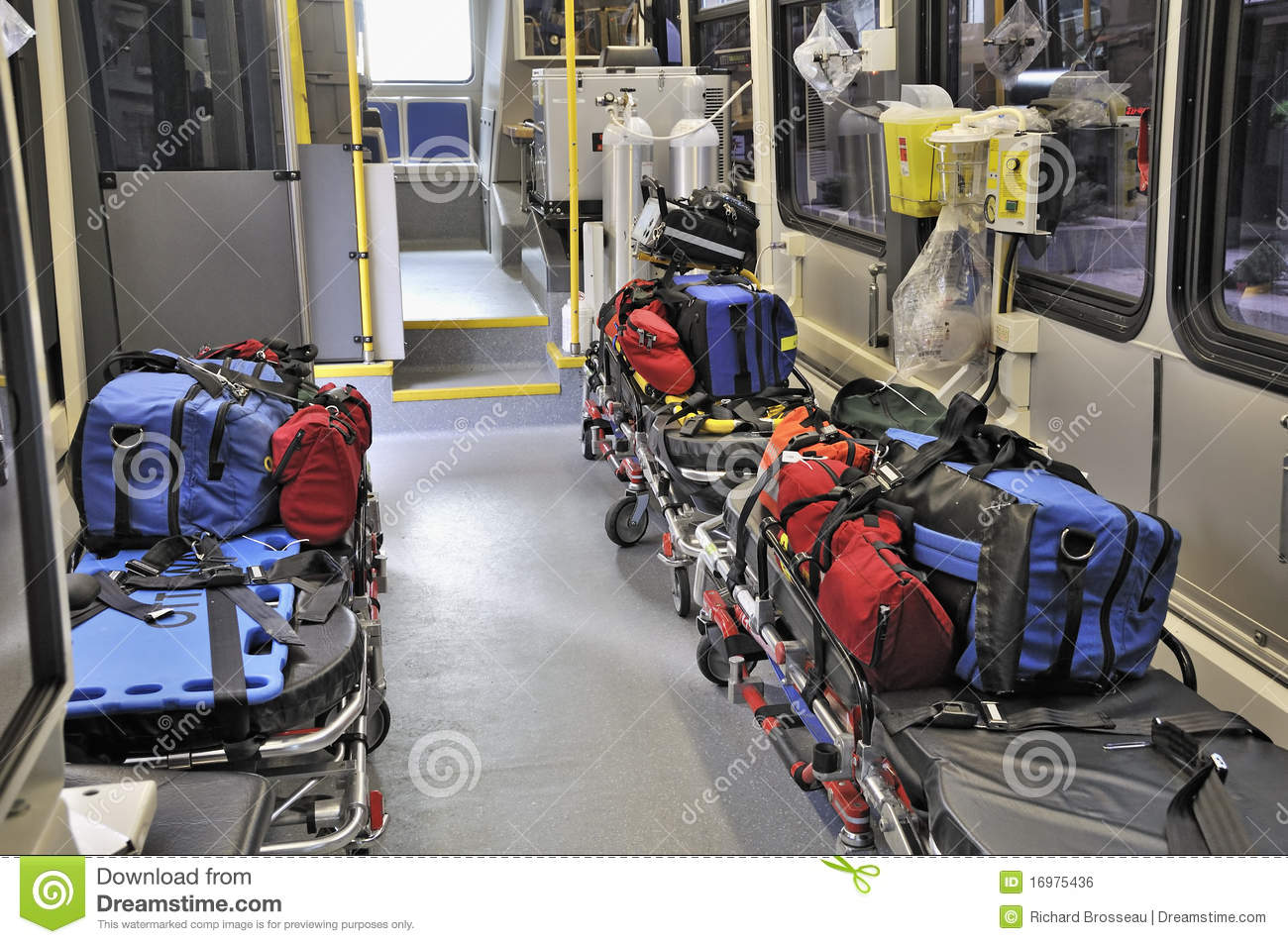 Inside A Paramedic Ambulance Stock Photo - Image of ...
