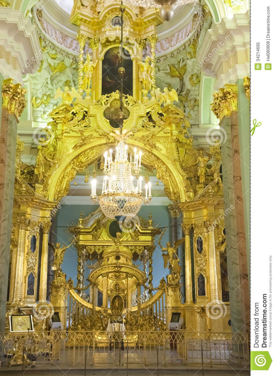 Inside Peter And Paul Cathedral St Petersburg Royalty