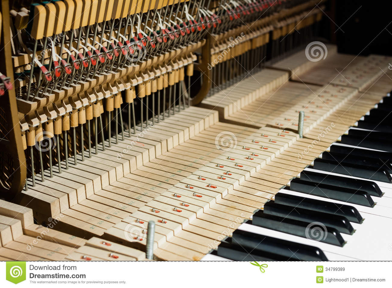 Inside Of The Piano Royalty Free Stock Images - Image: 34799389