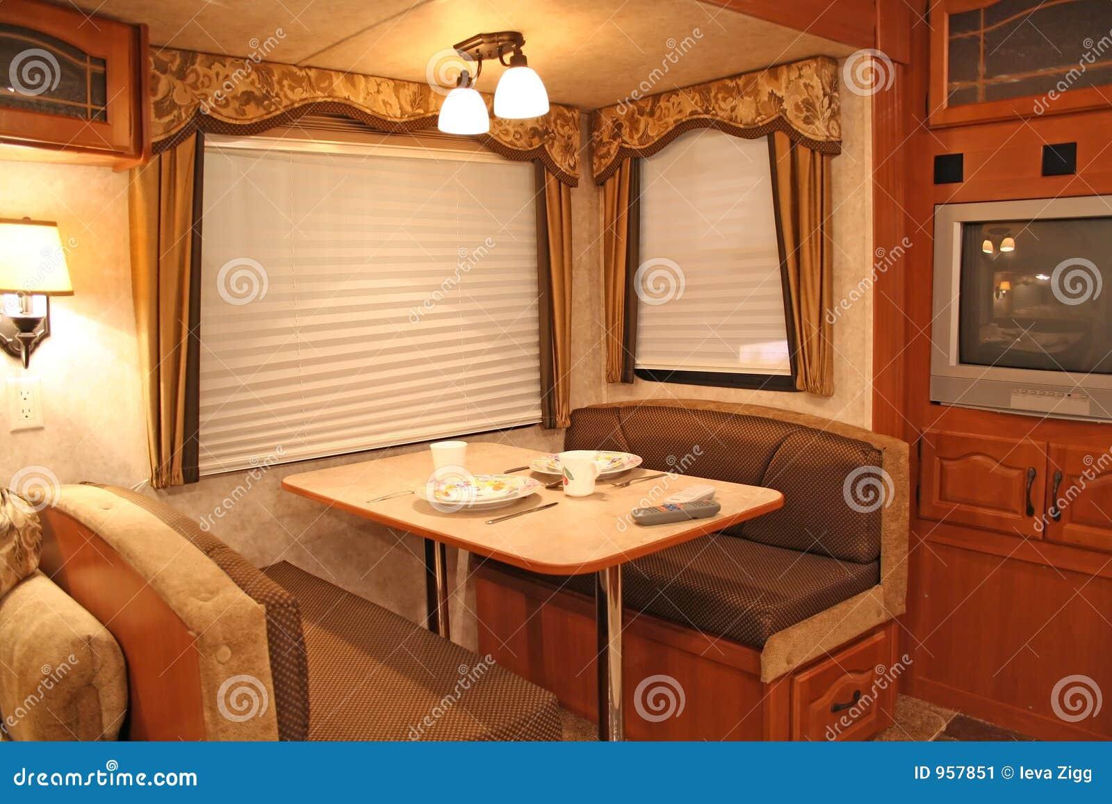 Inside RV Dining Stock Image Image 957851