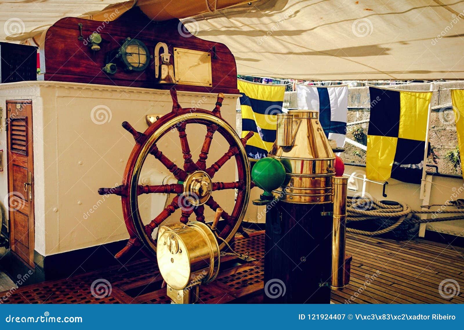 Inside sailboat in Oporto