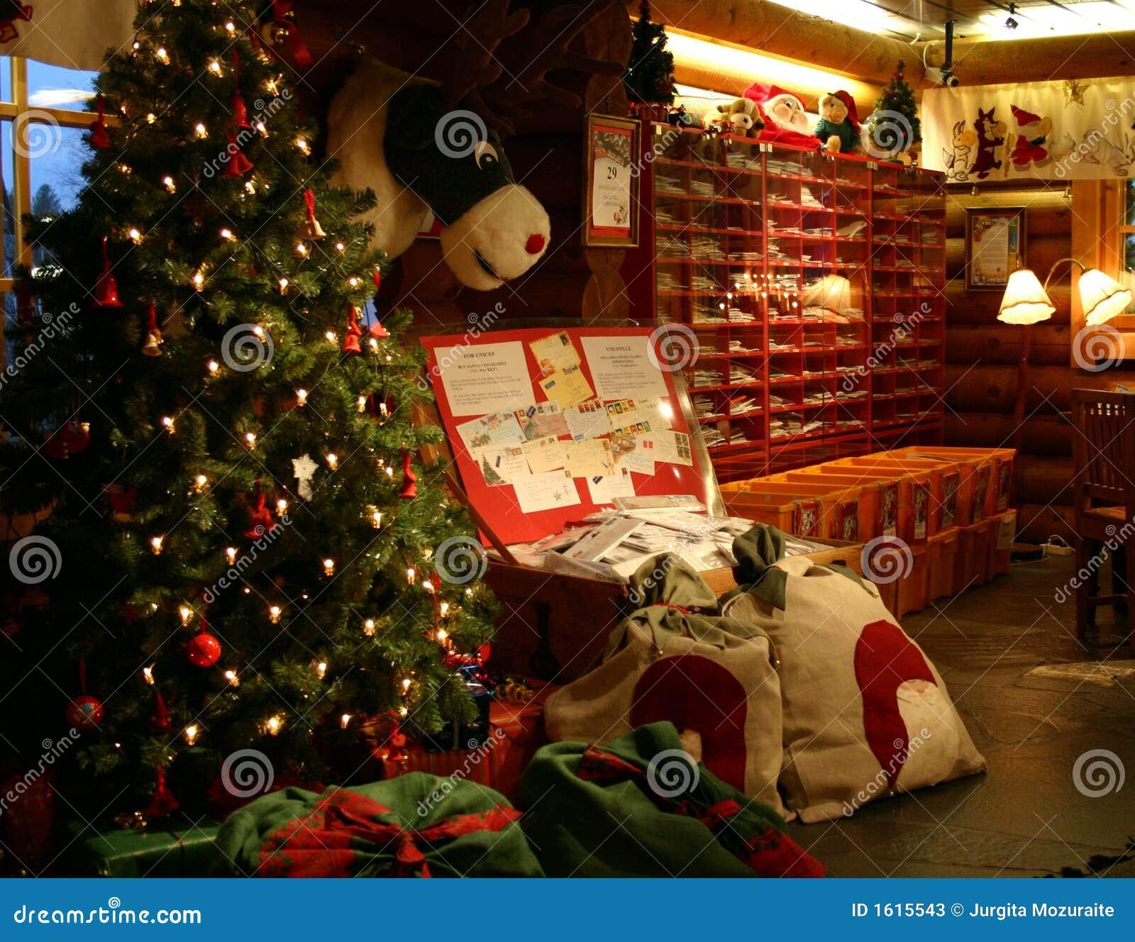 Inside Of The Santa Claus Main Post Office Stock Photos