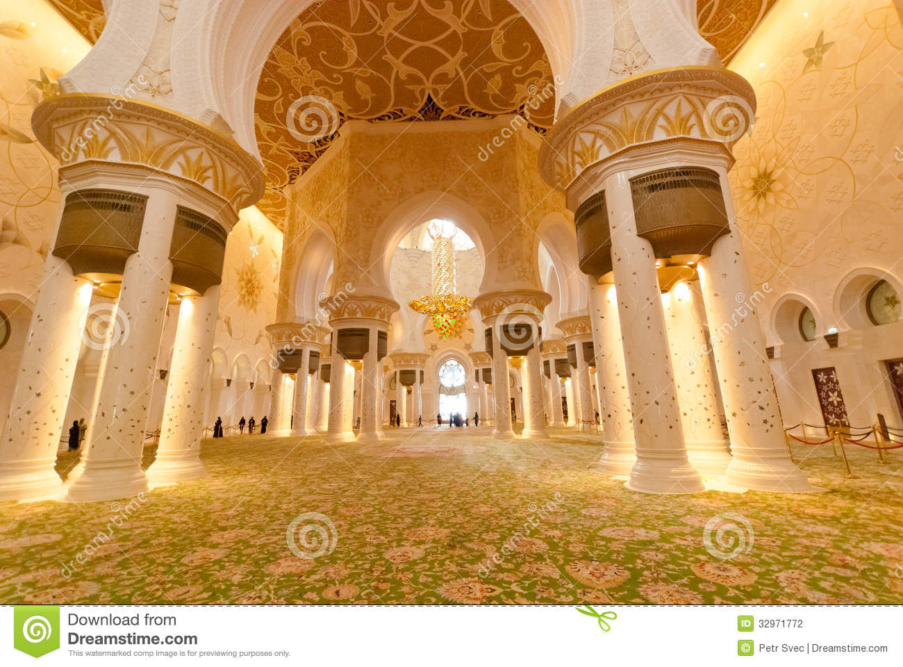 Inside the sheikh zayed grand mosque stock photography for Al manzool decoration abu dhabi