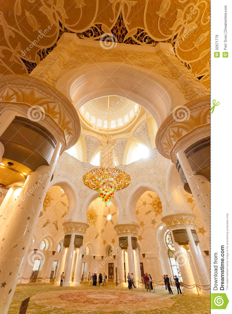 Inside The Sheikh Zayed Grand Mosque Editorial Stock Image