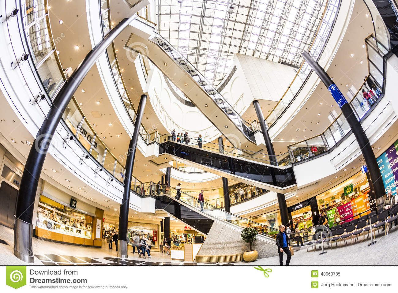 Inside The Shopping Mall Galeria Krakowska In Krakow Editorial Image Image 40669785