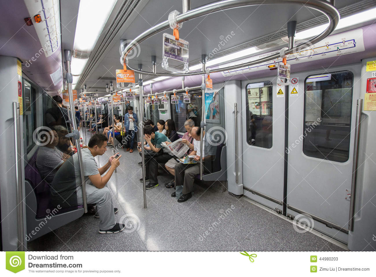 Inside Shot Of A Metro Train Editorial Stock Photo - Image ...