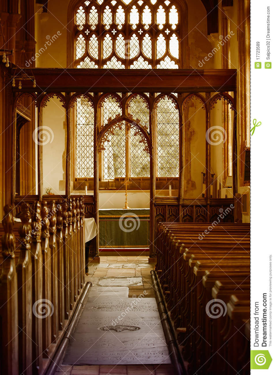Inside A Small Church Stock Image Image Of Ornate Floor