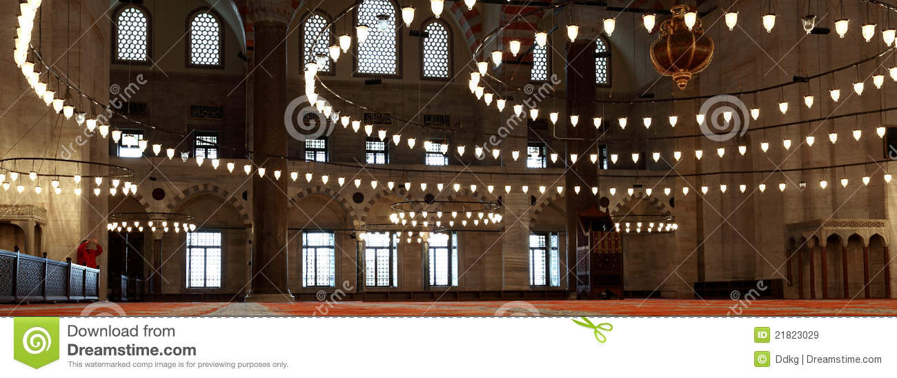 Inside The Suleymaniye Mosque Istanbul Royalty Free Stock