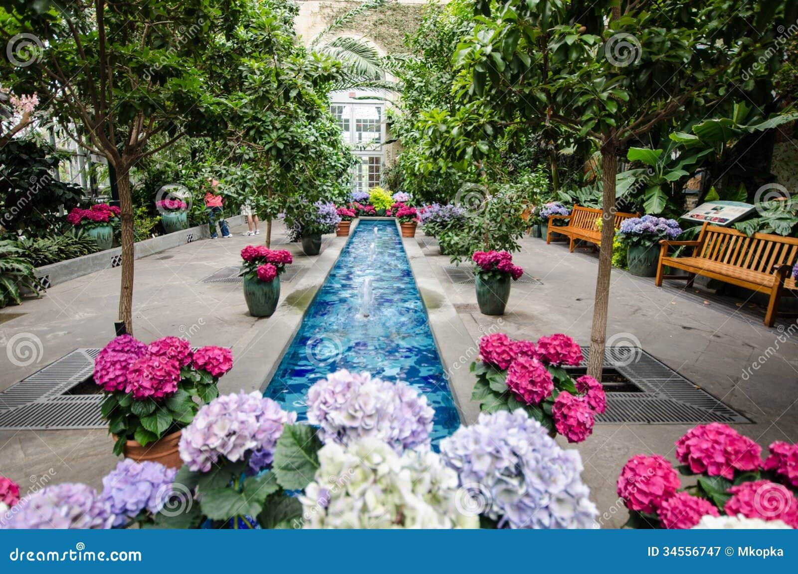 inside the united states botanical garden stock image - image