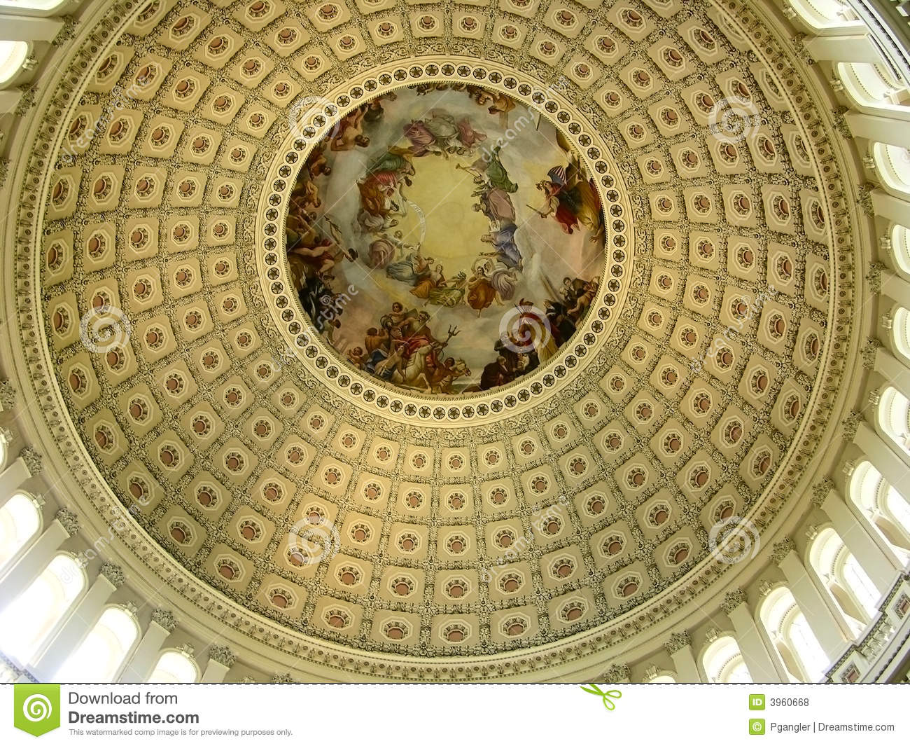 Inside Of US Capitol Rotunda Stock Photo - Image: 3960668