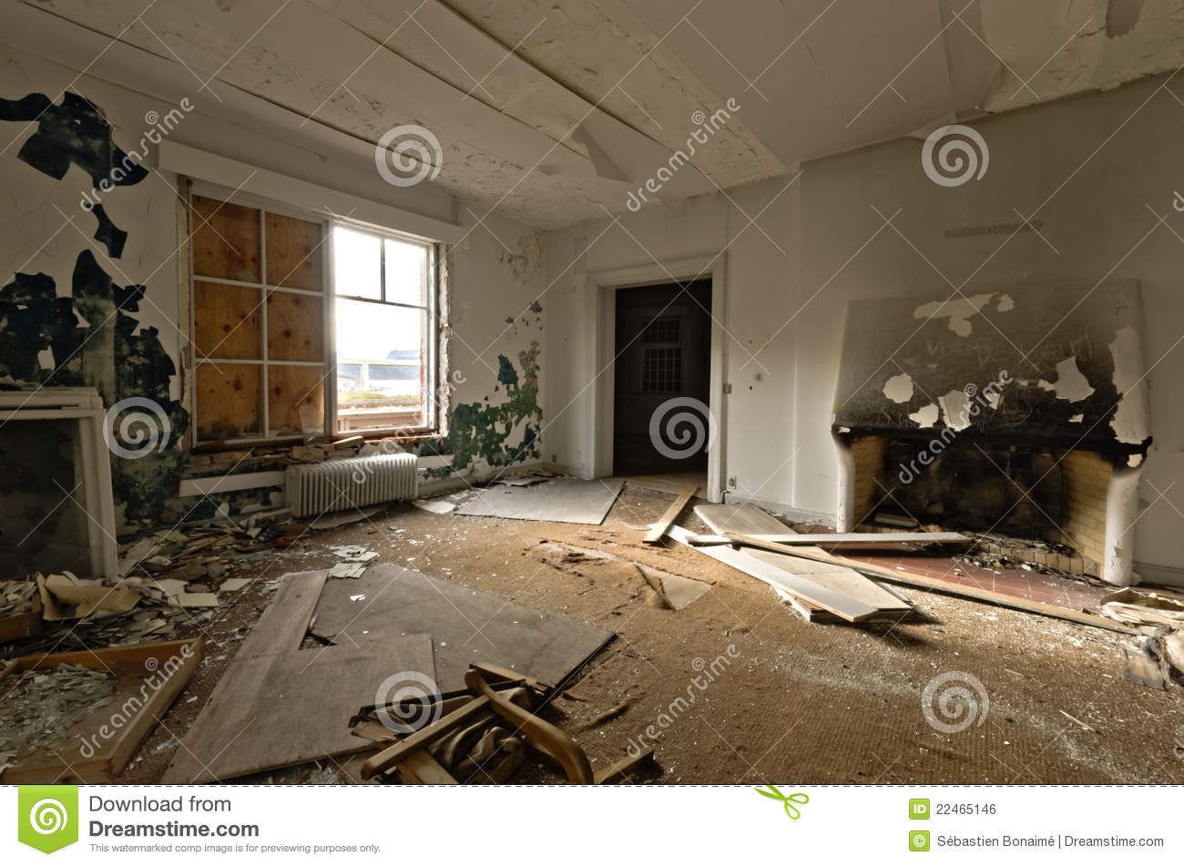 Inside View Of An Abandoned House Stock Photo Image Of