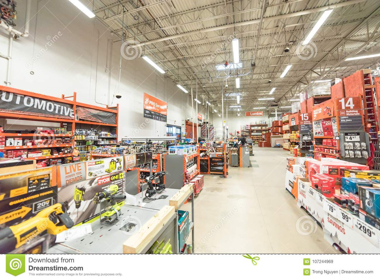 2695aedefc3 Inside View Of A Home Depot Retail Store Editorial Stock Image