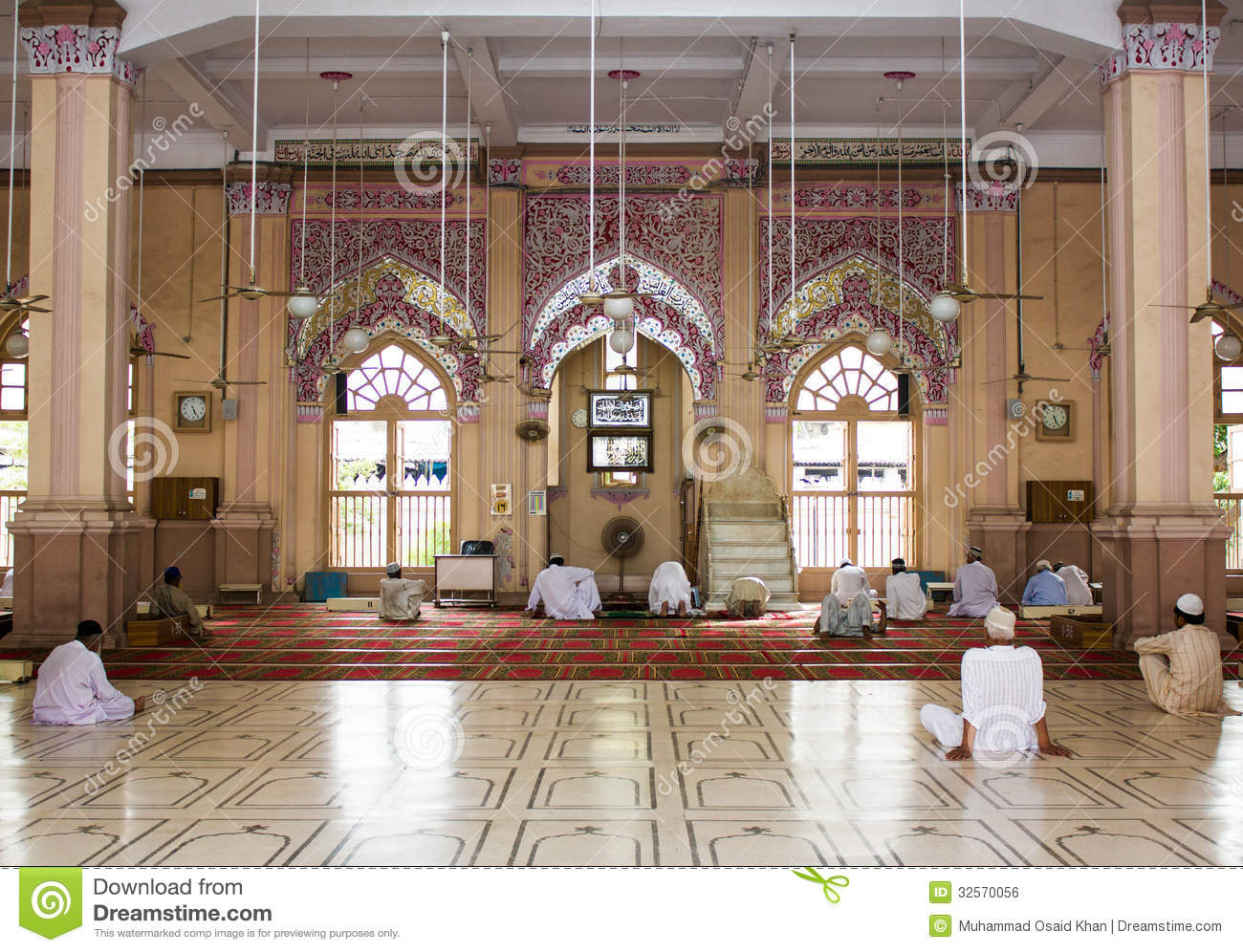 Non Muslim Perspective On The Revolution Of Imam Hussain: Inside View Of Memon Masjid Karachi Editorial Photo