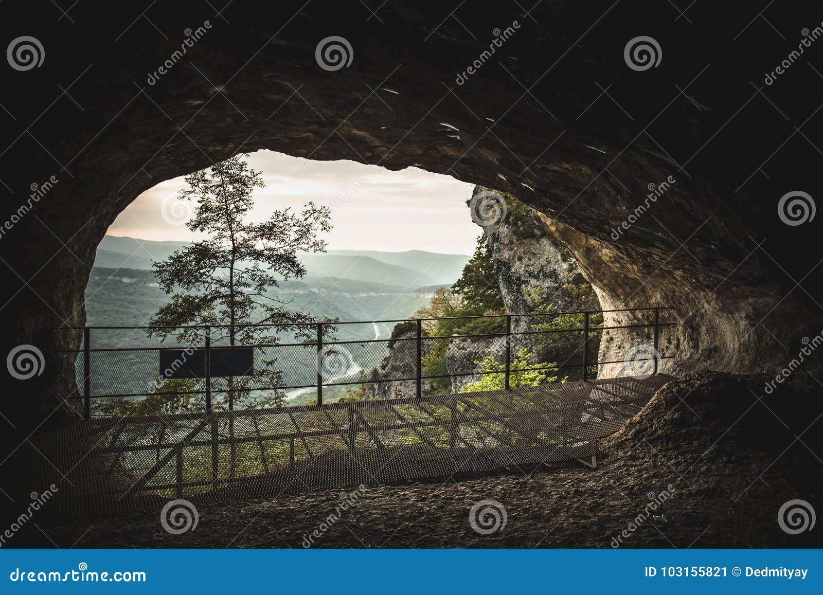 Glory hole mountain cave