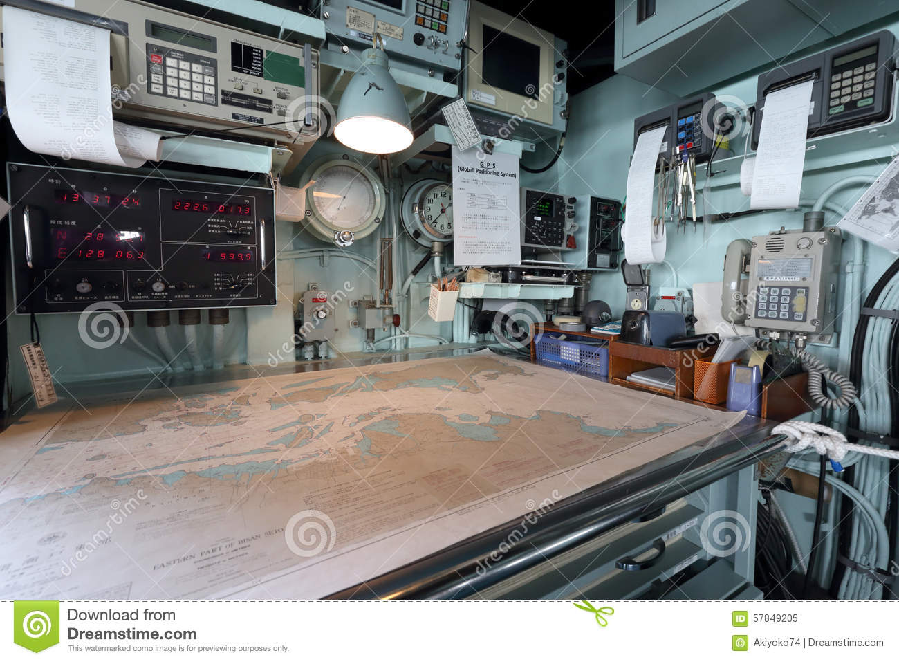 Inside of warship editorial image image of army for Inside l interieur