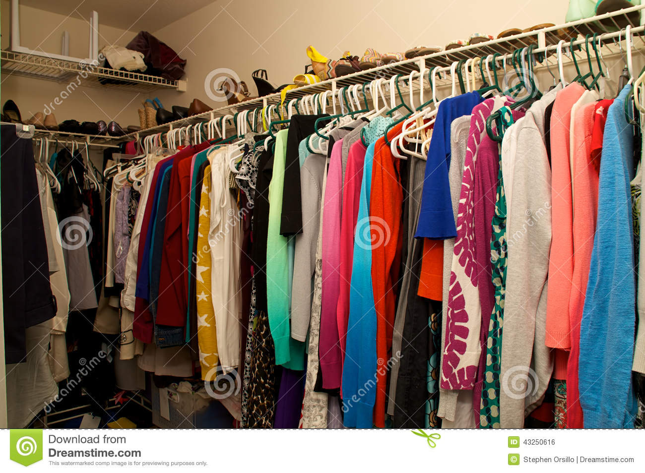 Inside A Woman S Closet Stock Photo Image Of Walk