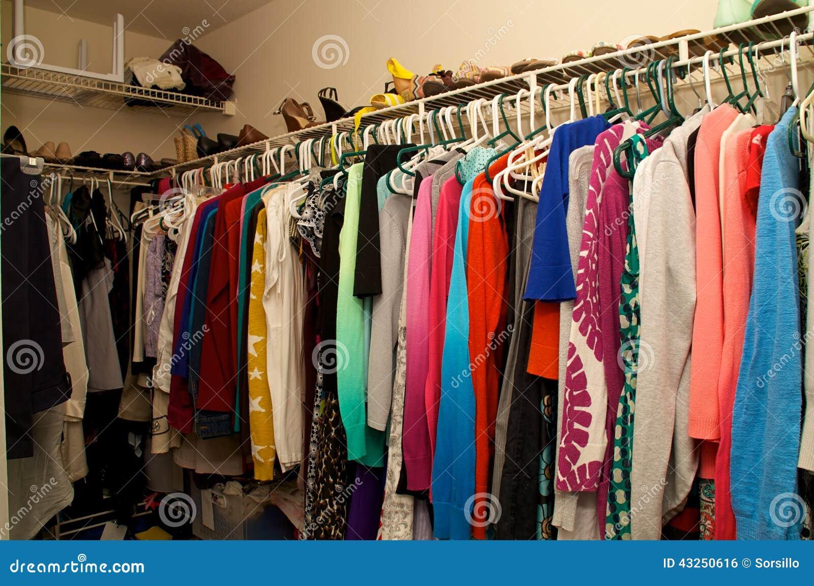 Inside A Woman 39 S Closet Stock Photo Image 43250616