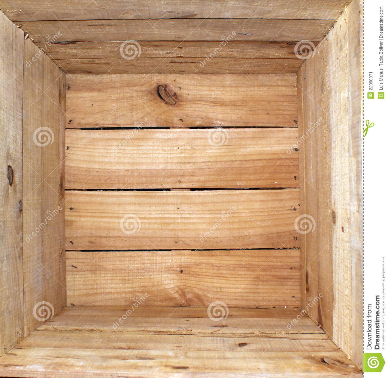 Inside a wooden box empty. This is ideal for use as wallpaper.