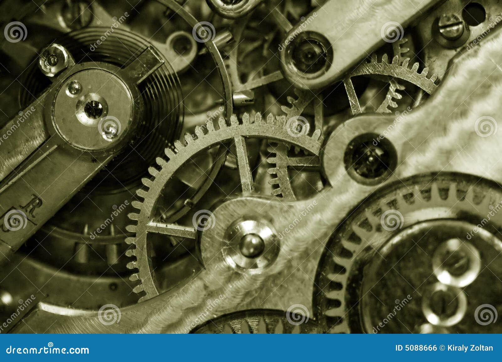 Insideof an old pocket watch