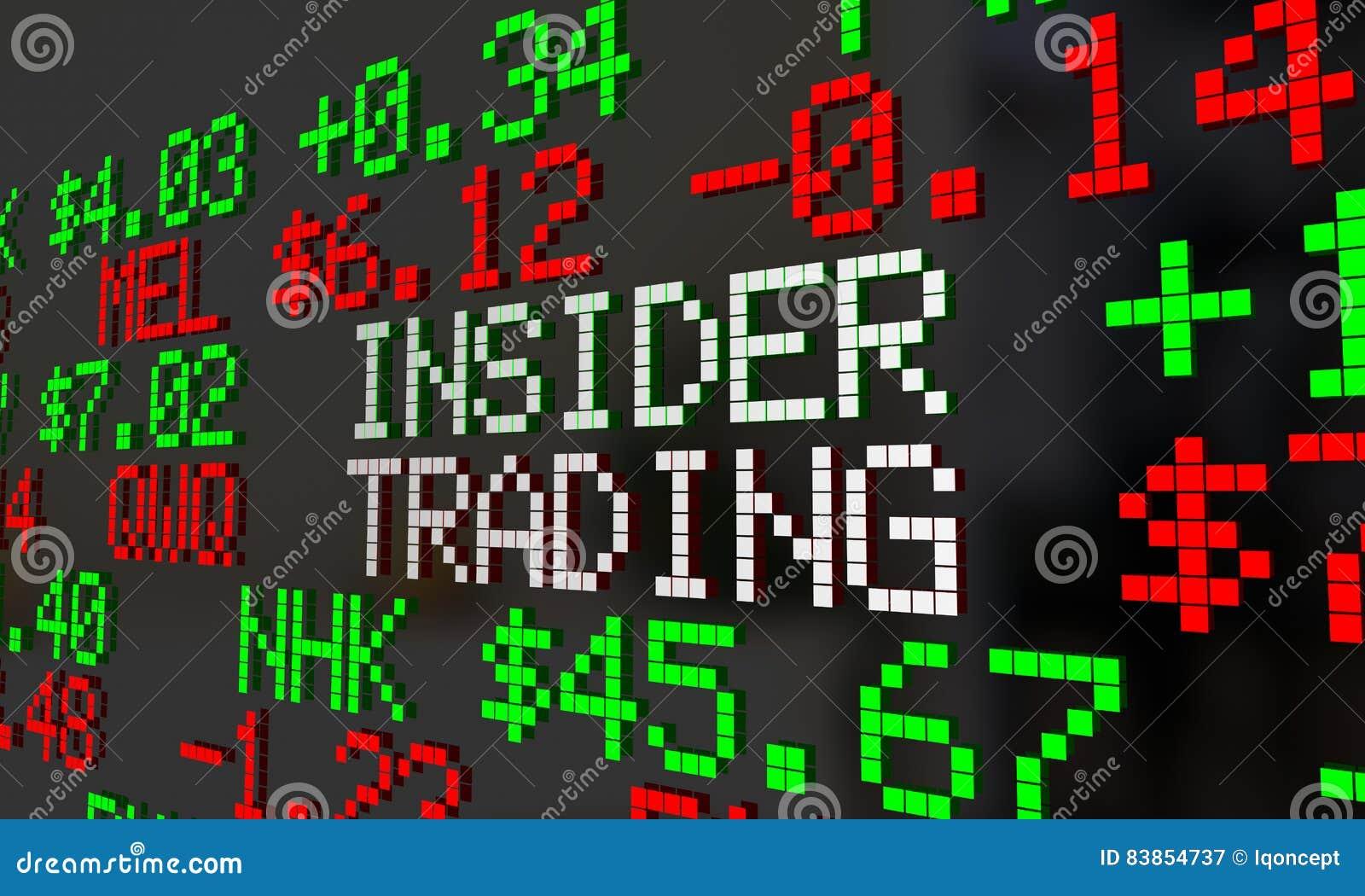 Insider Trader Illegal Stock Market Trading Ticker Symbols Stock