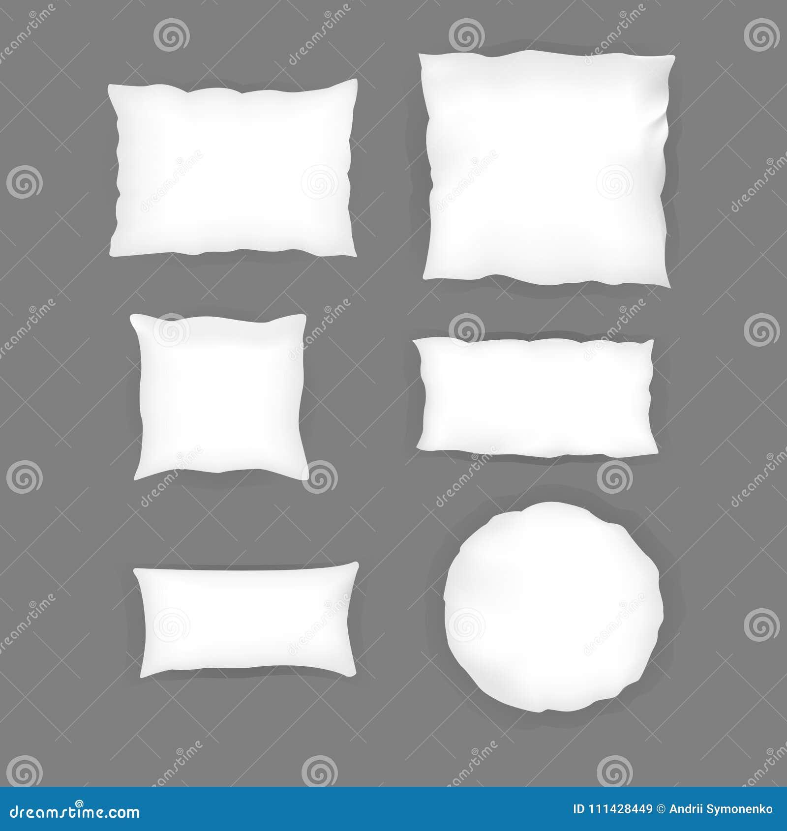 Dimensioni Cuscino Letto.Insieme Bianco Del Cuscino Della Camera Da Letto Realistica