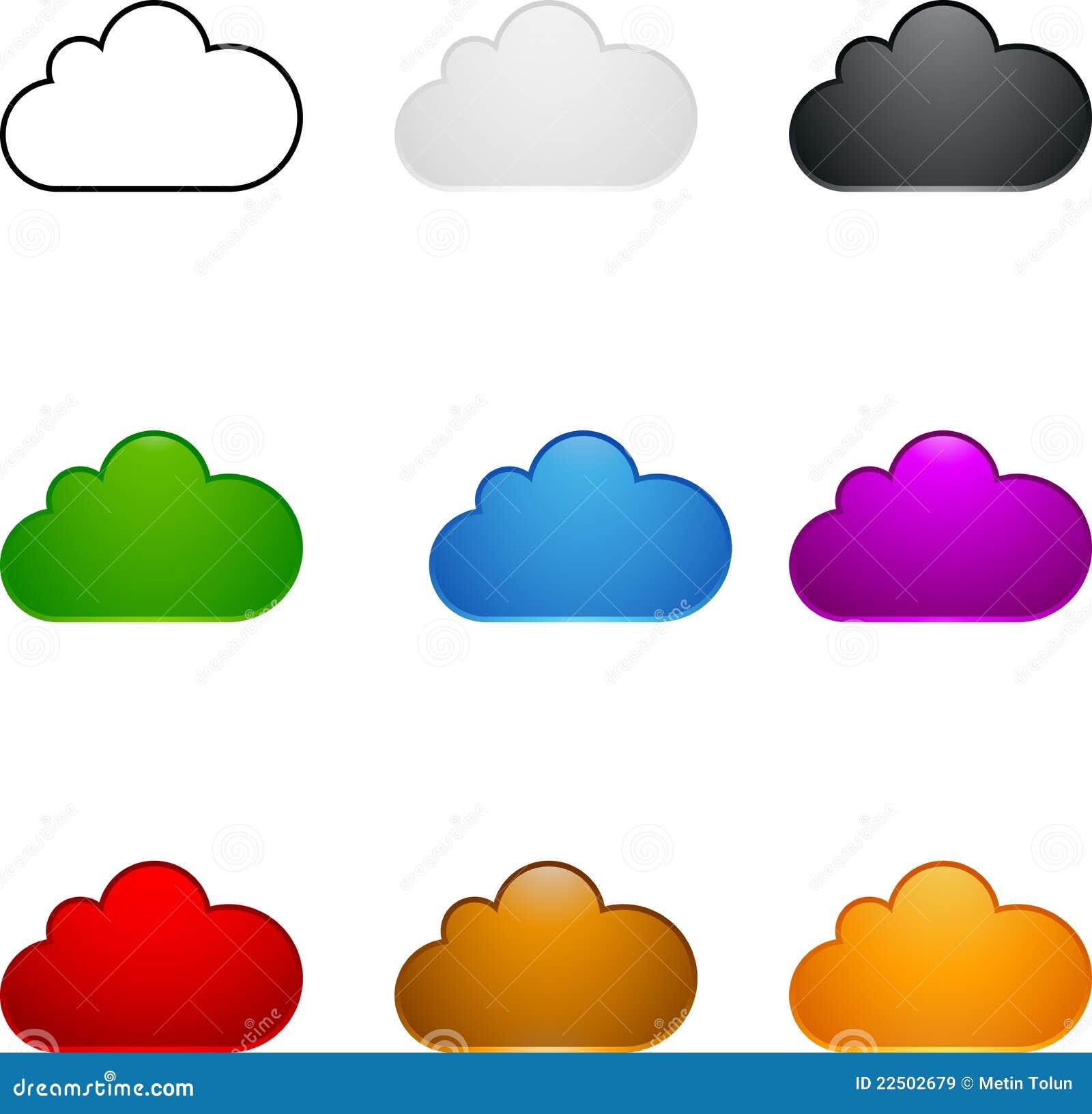 Insieme colorato della nube