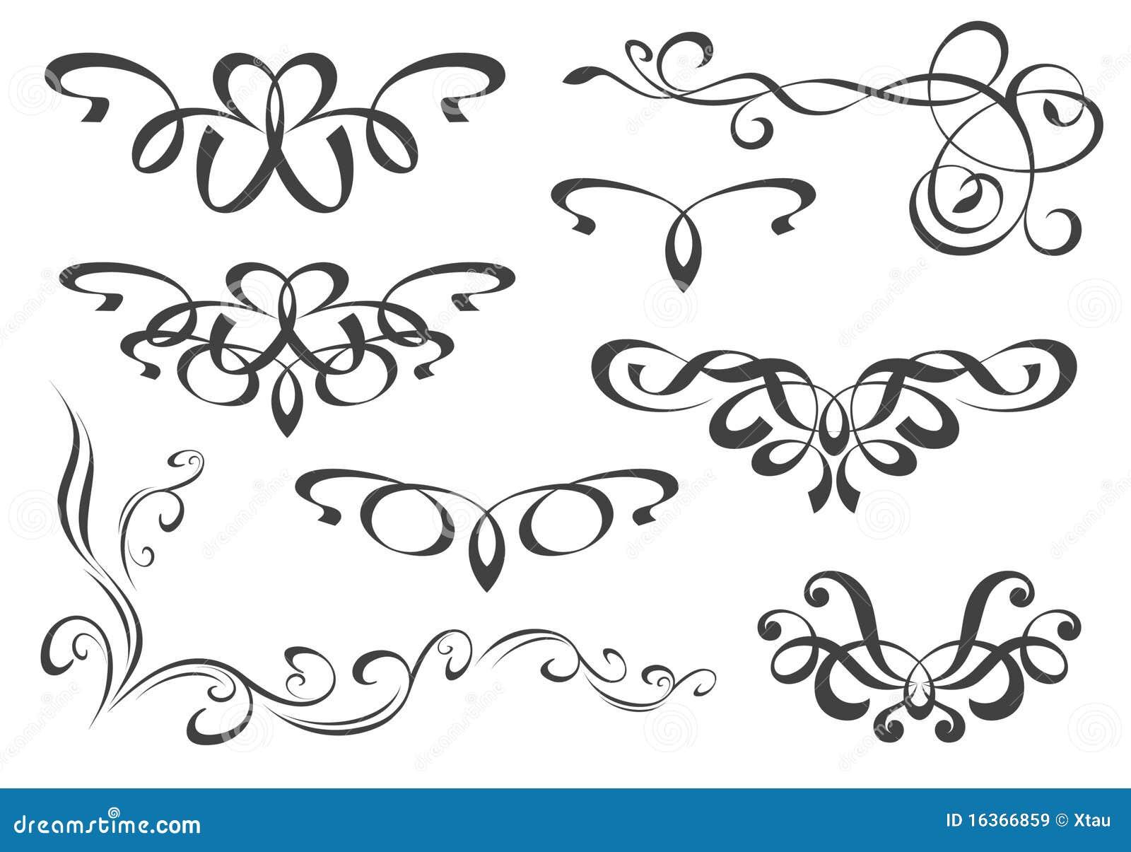 Insieme degli elementi decorativi illustrazione vettoriale for Greche decorative per cucina