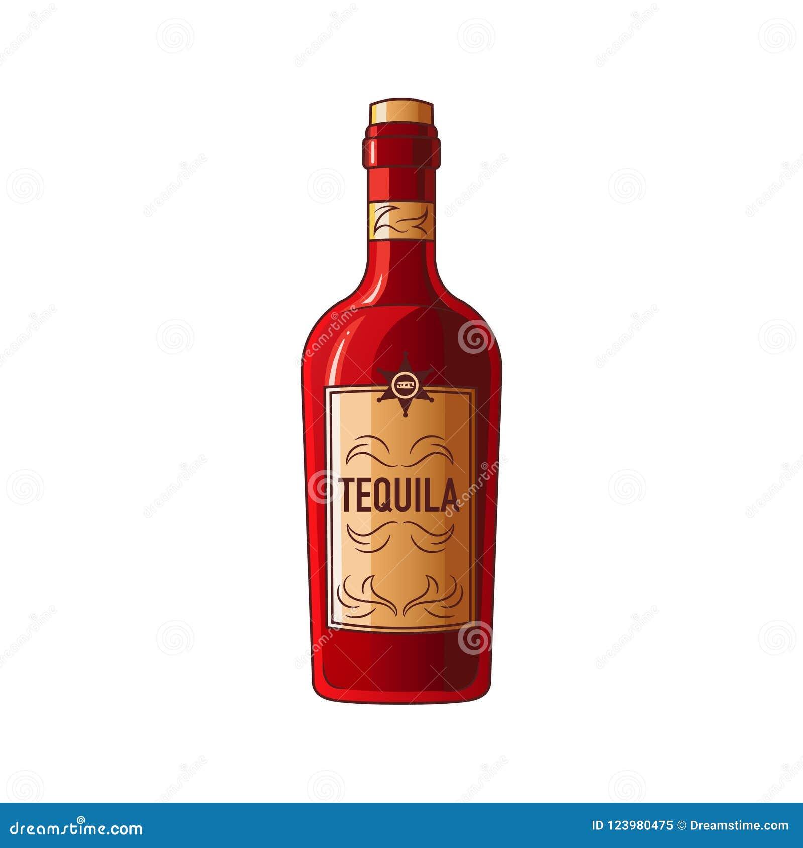 Insieme degli elementi dei selvaggi West l attrezzatura dei cowboy Bottiglia della tequila