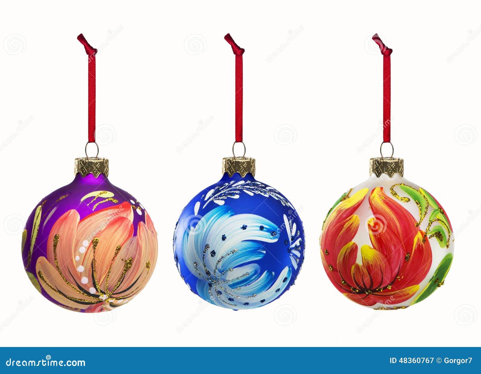 Insieme degli elementi della decorazione di Natale isolati su backgroun bianco