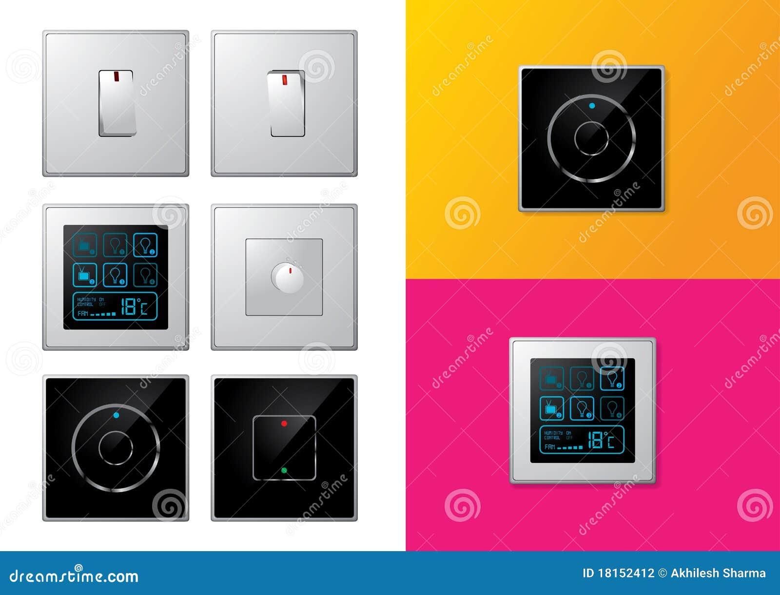 Insieme degli interruttori elettrici moderni fotografia - Interruttori elettrici vimar ...