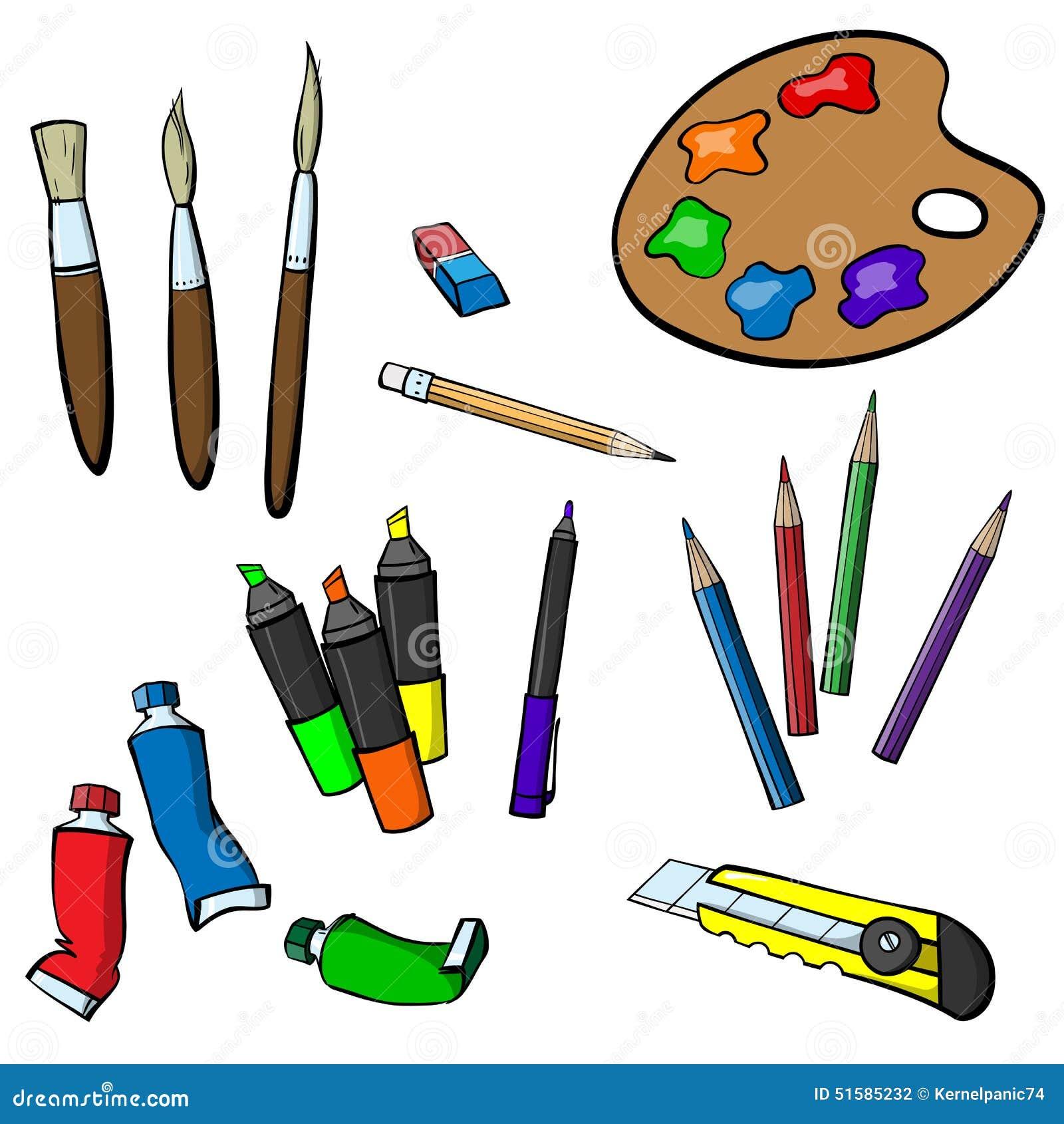 Insieme degli oggetti per disegnare illustrazione for Programmi per progettare oggetti