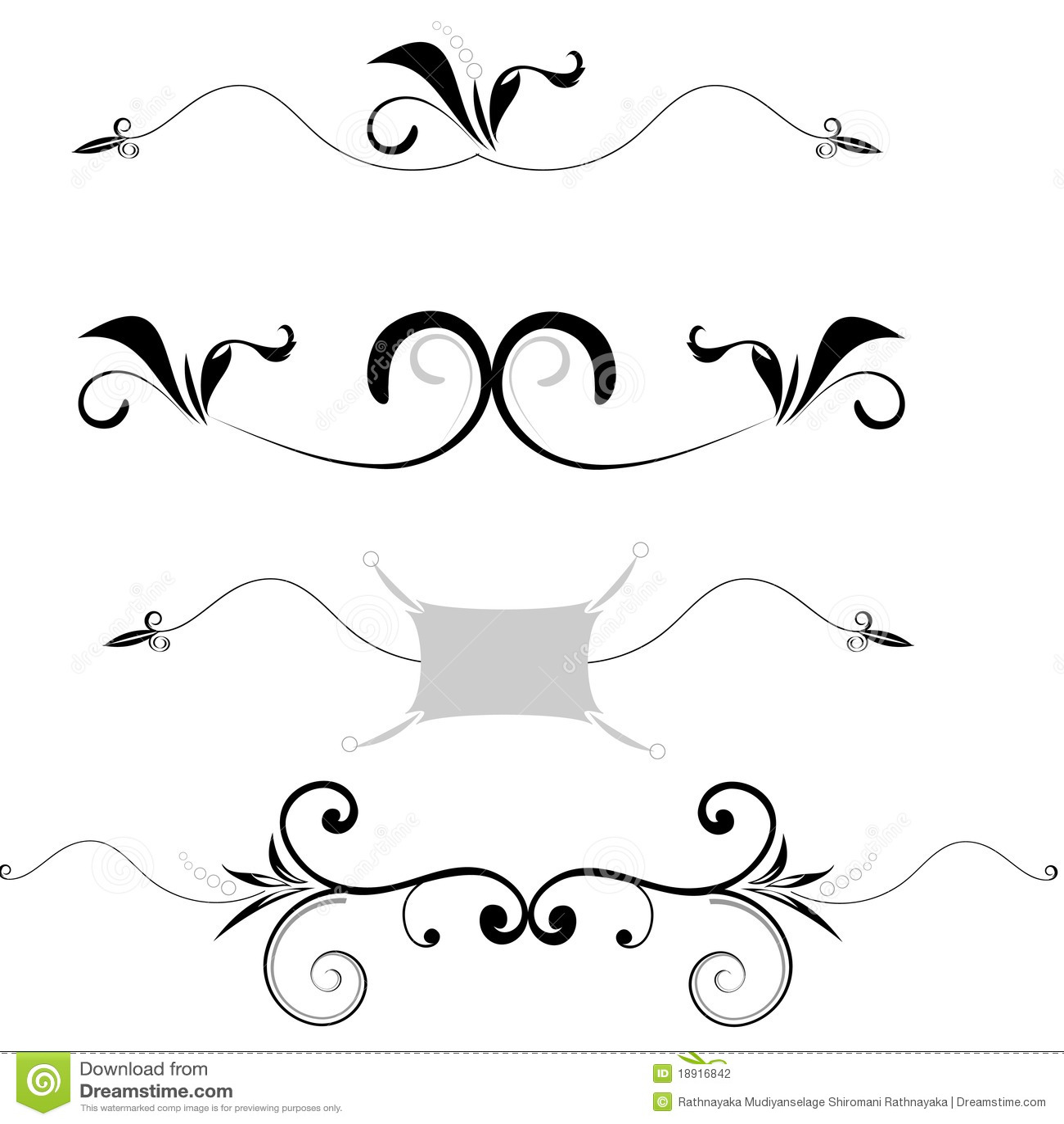Insieme dei bordi decorativi illustrazione di stock for Bordi decorativi