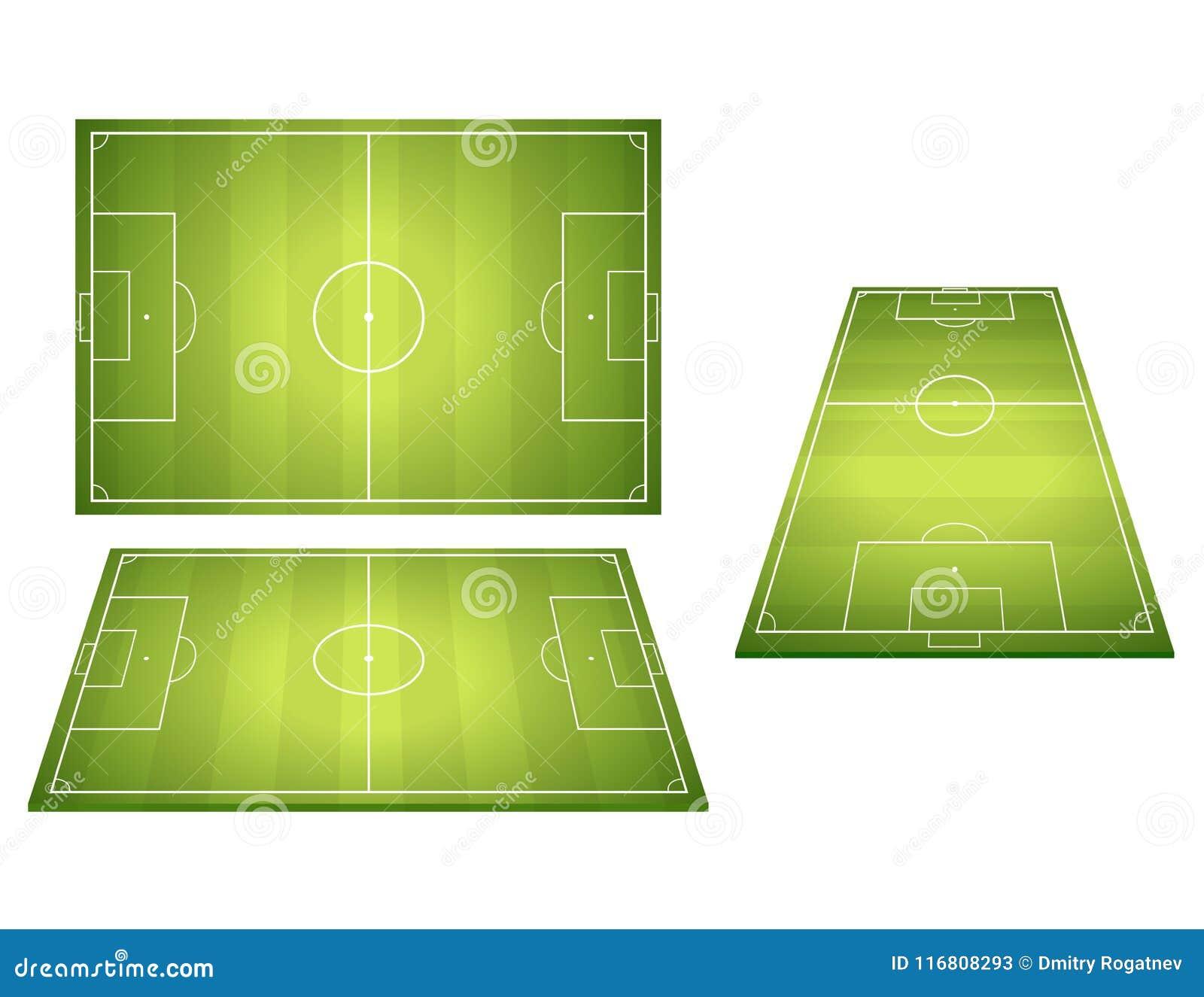 Insieme dei campi di calcio di calcio