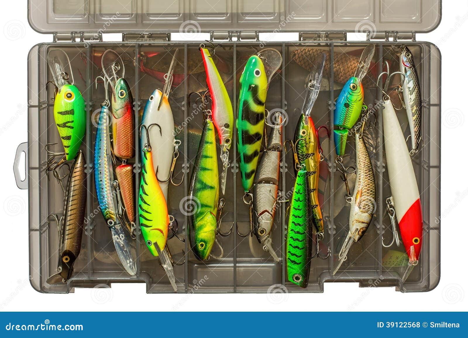 Insieme dei richiami di pesca