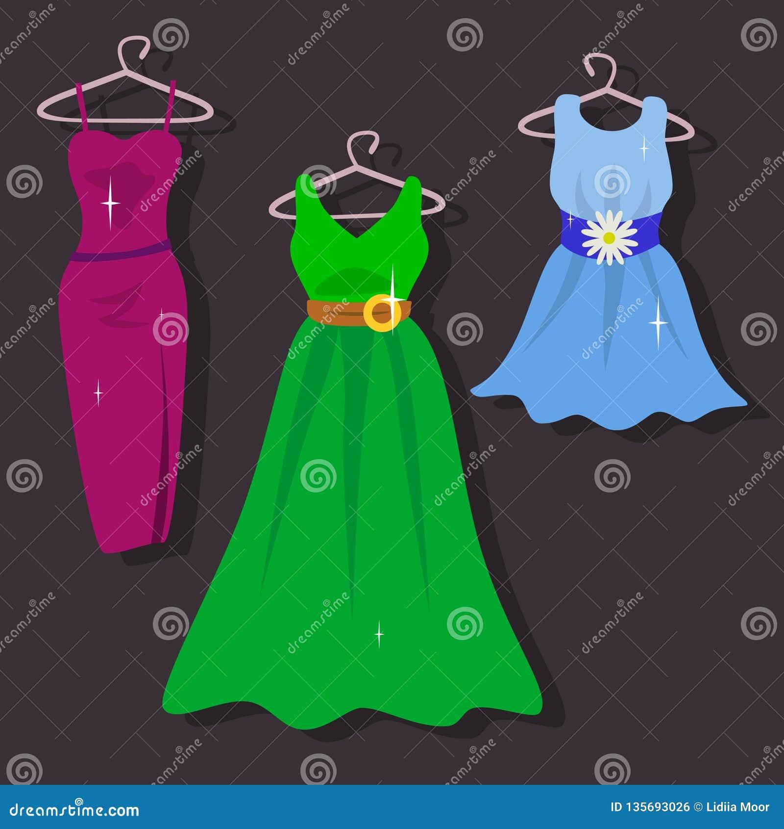 Insieme dei vestiti dal ` s delle donne