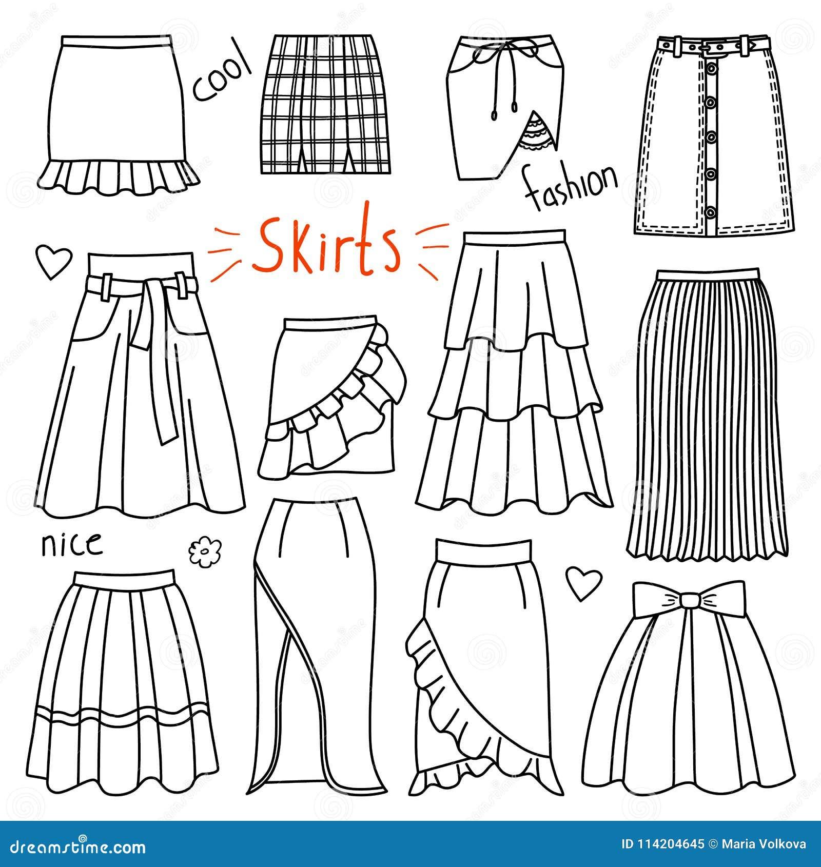 vestiti disegnati a mano