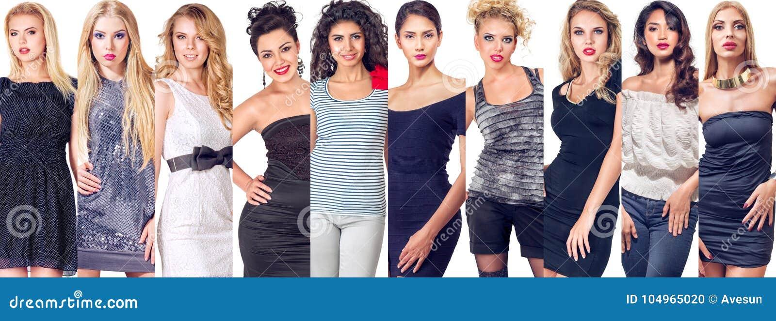 Insieme del collage delle donne