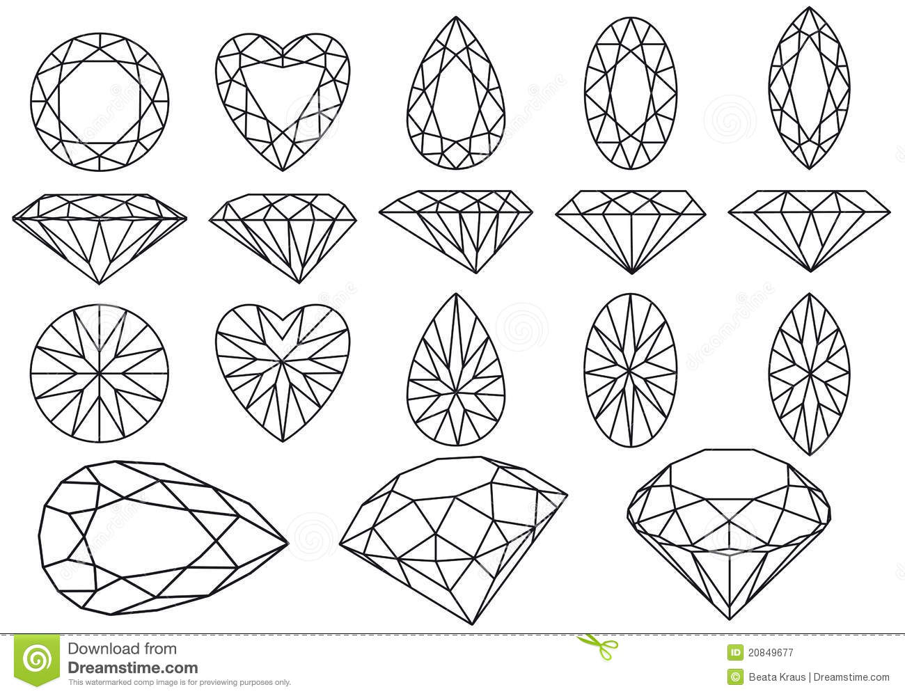 Heart gemstone vector