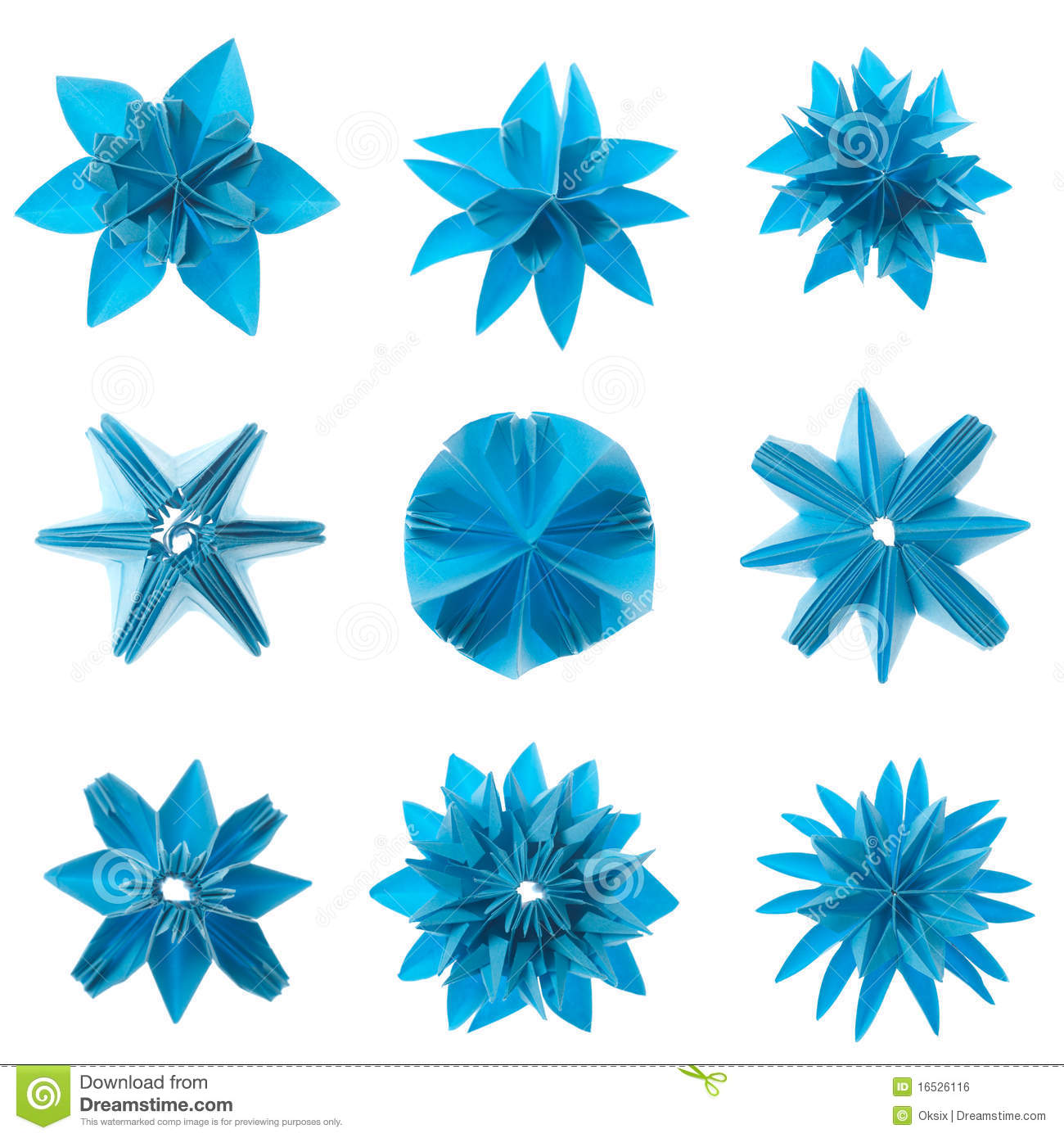 Origami Snowflake Stock Vectors Clipart and Illustrations